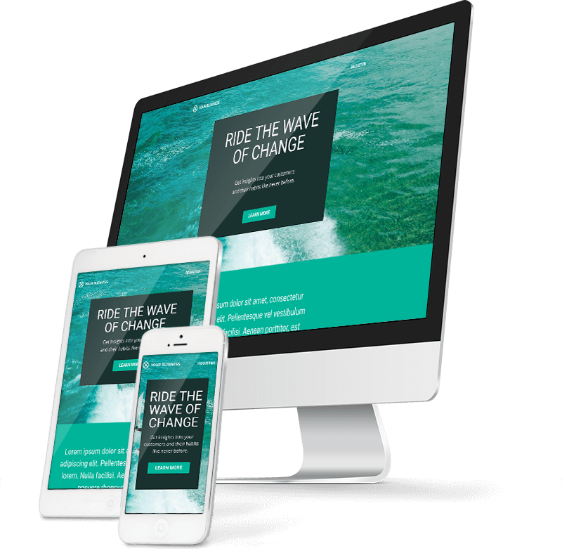 Custom Responsive Website Builder